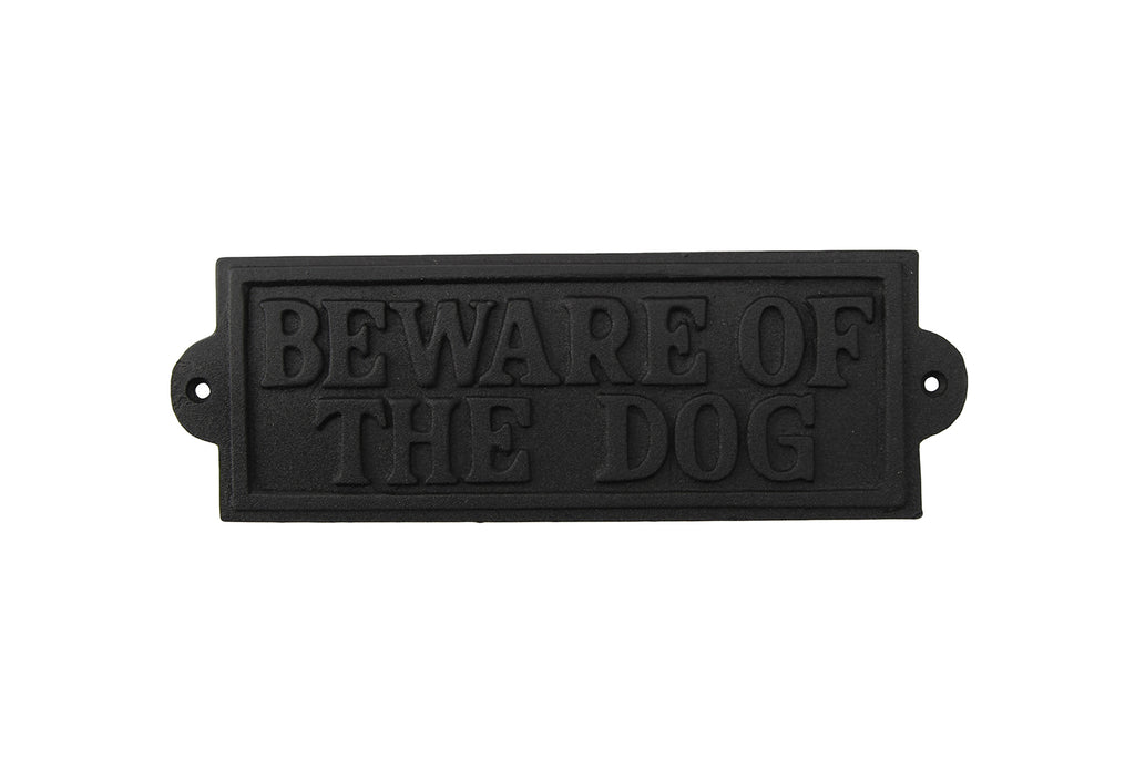 'Beware of the dog' Iron Sign gift for dog lovers - Culzean Gifts