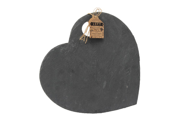 Personalised Loft Heart Natural Slate Cheese Board - Culzean Gifts