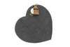 Engraved Personalised Loft Heart Natural Slate Cheese Board - Culzean Gifts