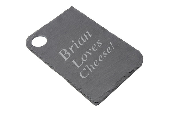 Personalised Loft Rectangle Natural Slate Cheese Board - cookware, cooking gifts, Kitchen gifts - Culzean Gifts