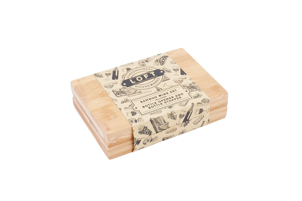 Personalised Loft Bamboo 2 Piece Wine Set - Culzean Gifts