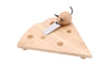 Engraved Personalised Cheese Board Wedge with Mouse Knife - Culzean Gifts