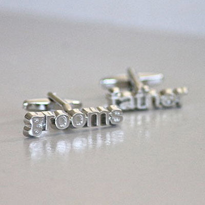 Silver Plated Father of the Groom Wedding Cufflinks