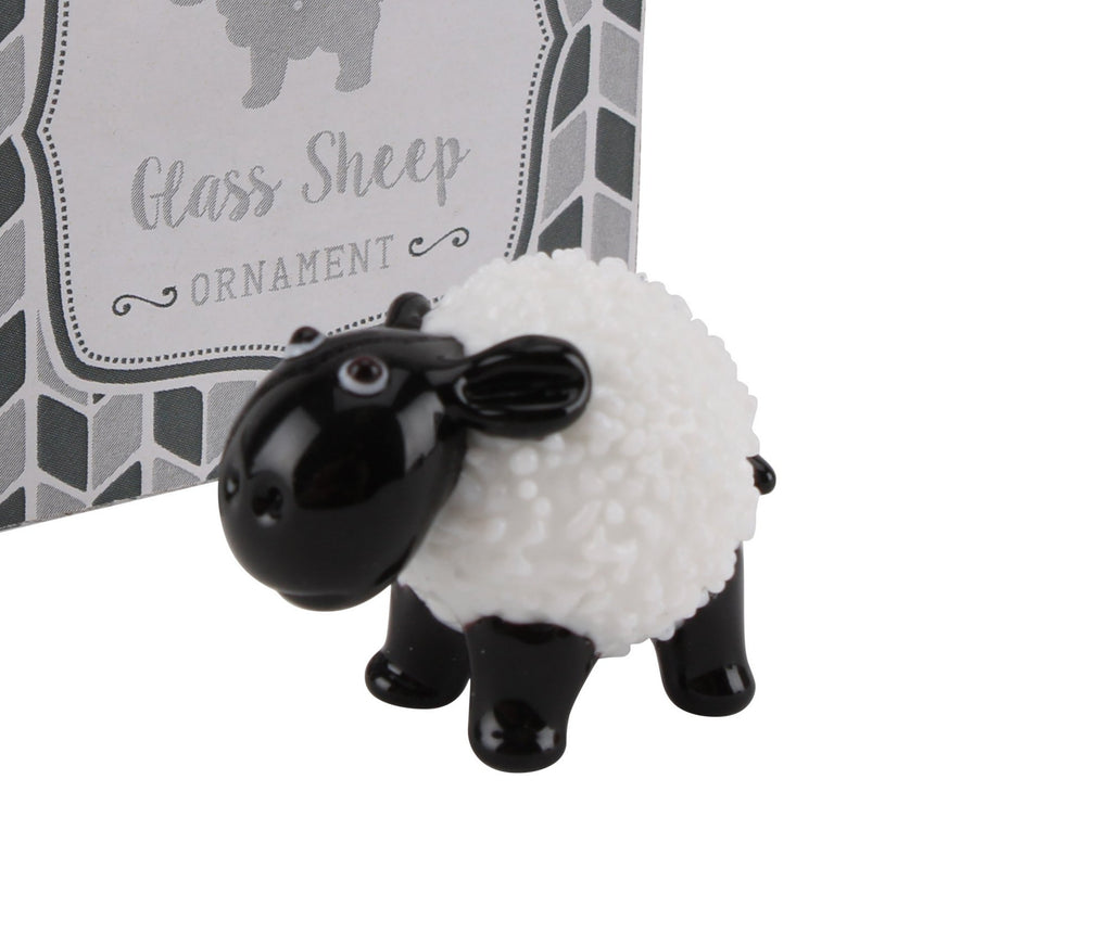 Glass Model Sheep Ornament 2.5cm