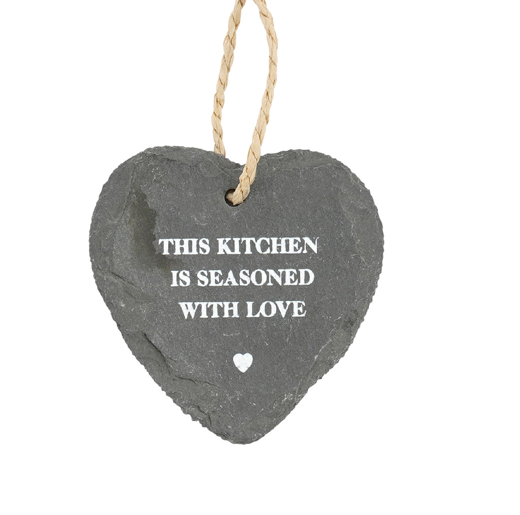Loft Personalised Slate Hanging Slate Heart With Warming Message - Culzean Gifts