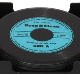 Musicology Set Of 6 Glass Record Coasters