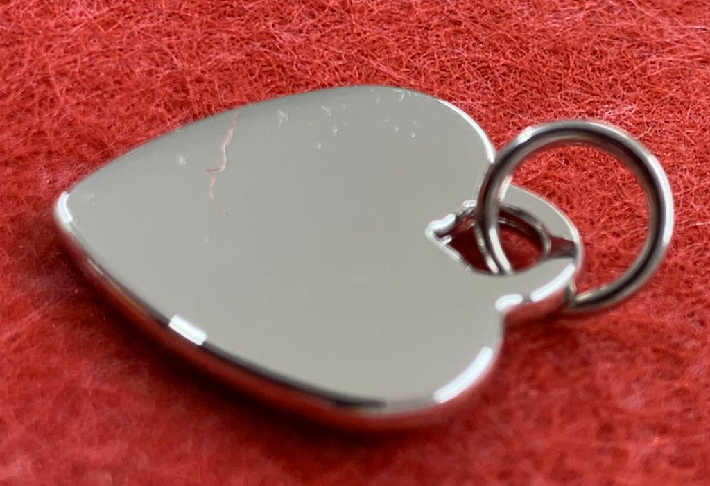 Polished stainless steel heart pendant - Available Personalised Engraved