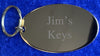 Oval Gold Plated Key Fob Engraved Personalised