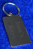 Rectangular Gold Plated Key Fob Engraved Personalised