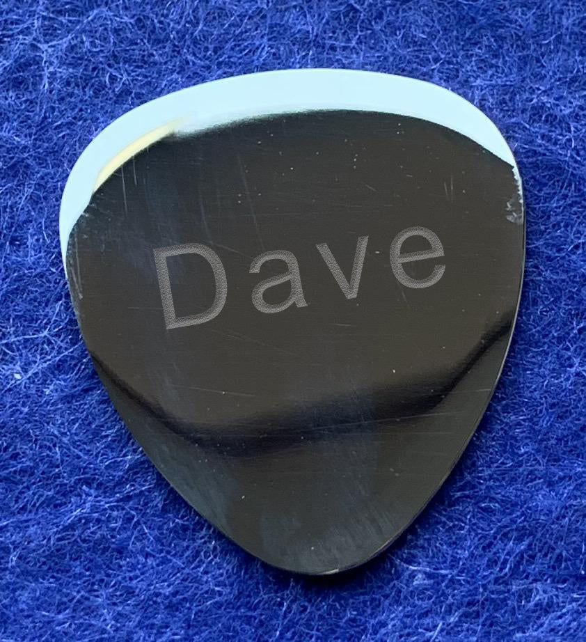 Polished Stainless Steel Plectrum - Available Personalised Engraved