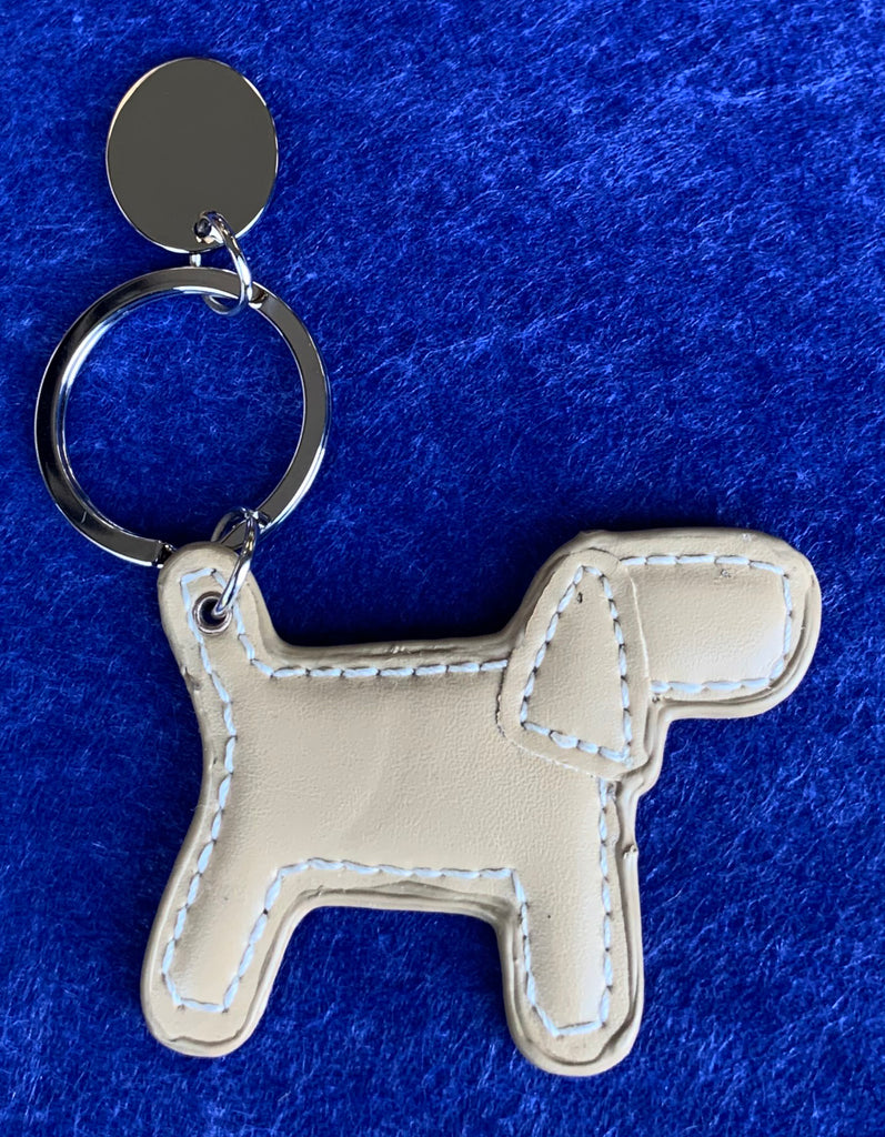 Leather Dog Keyring - Available Personalised Engraved