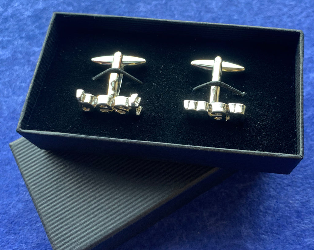 Silver Plated Best Man Wedding Cufflinks