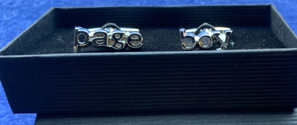 Silver Plated Page Boy Wedding Cufflinks