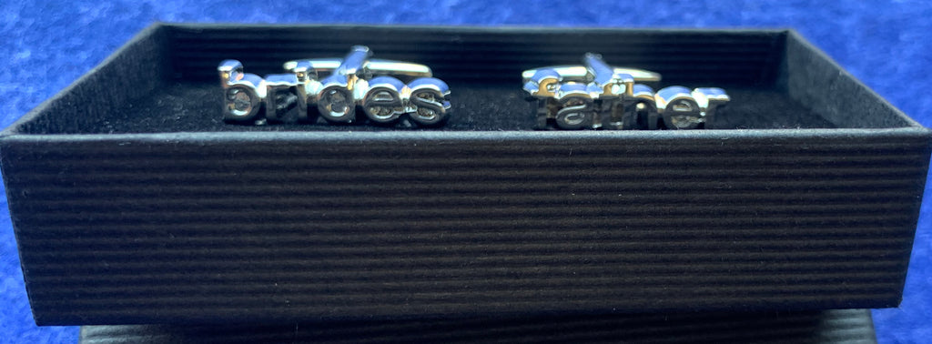 Silver Plated Father of the Bride Wedding Cufflinks