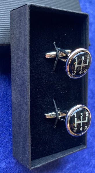 Black Gear Stick Cufflinks