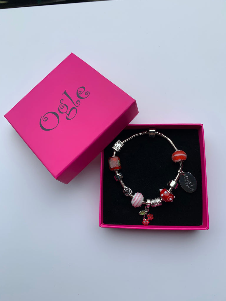 Candy Red - Charm Bead Bracelet, Modern Day Design by Culzean Ogle