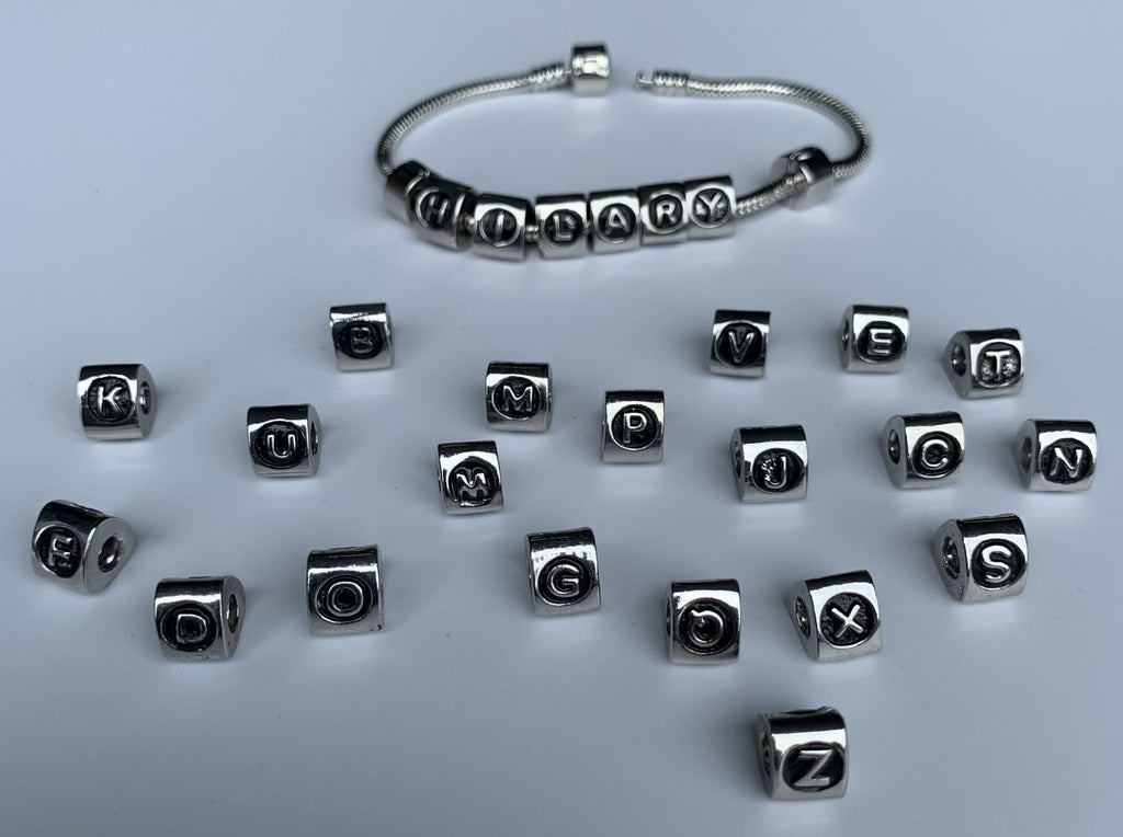 Make Names & Messages - Charm Bead Bracelet, Modern Day Design by Culzean Ogle