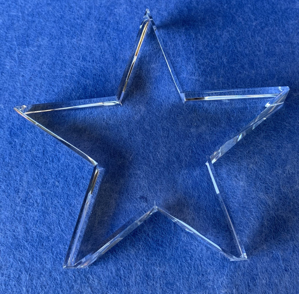 Star Shaped Engraved Glass Personalised Trophy