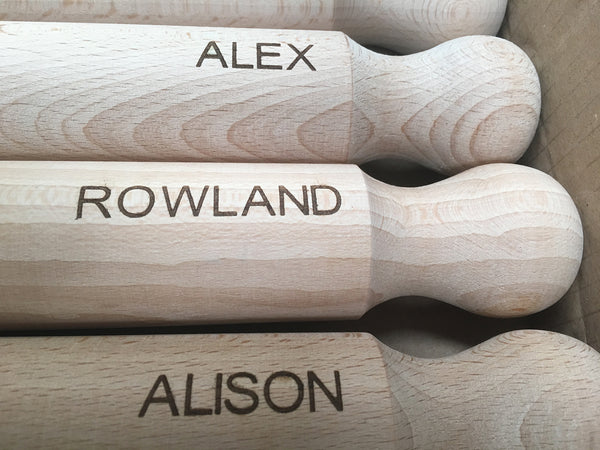 Personalised 33cm Wooden Rolling Pin - cookware, cooking gifts, Kitchen gifts - Culzean Gifts