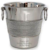 Diamante Champagne Bucket 20cm - Available Personalised Engraved.