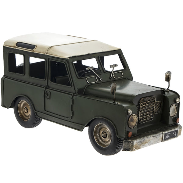 Vintage Tin 4x4 Vehicle 33cm