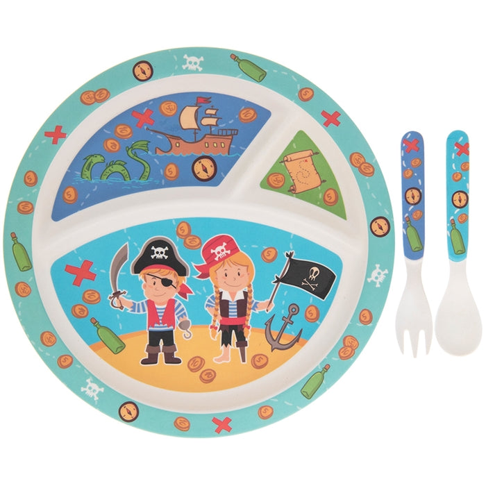 Bamboo Eco Eating Set Pirate Design