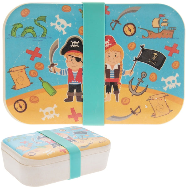Bamboo Eco Pirate Theme Lunch Box