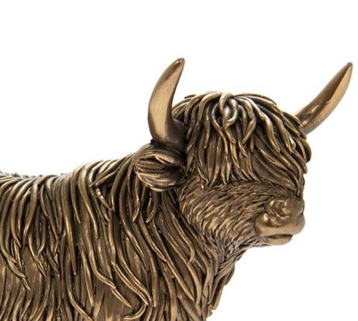 Reflections Bronzed Highland Cow
