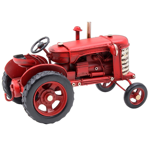 Vintage Tractor Ornament   Tin Vehicle Ornament In a Highly Detailed Vintage Tractor Design. Gift Boxed  17 x 10 x 10cm