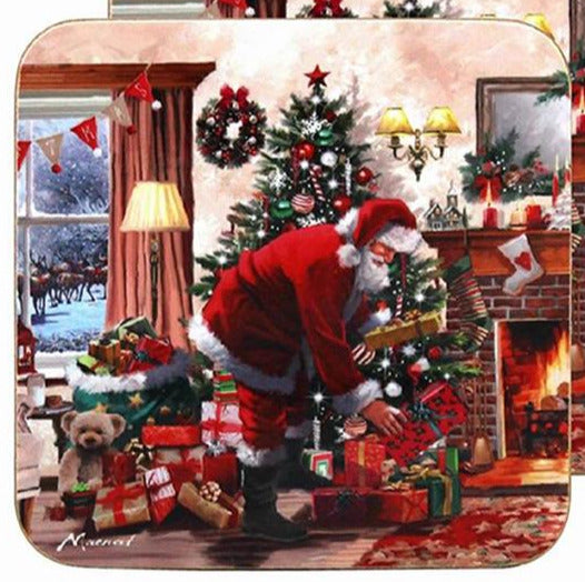 Santa With Presents Set Of 4 Coasters