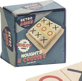Retro Wooden Noughts and Crosses Pack - Culzean Gifts