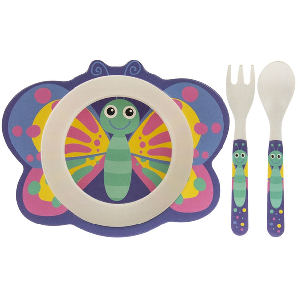 Bamboo Eating Set Butterfly