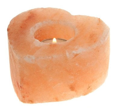 Himalayan Salt Heart Tealight Holder 10cm
