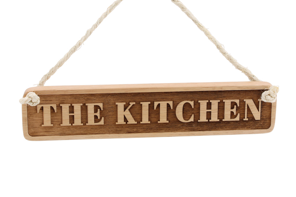 Wooden Etched 'The Kitchen' Sign - Culzean Gifts