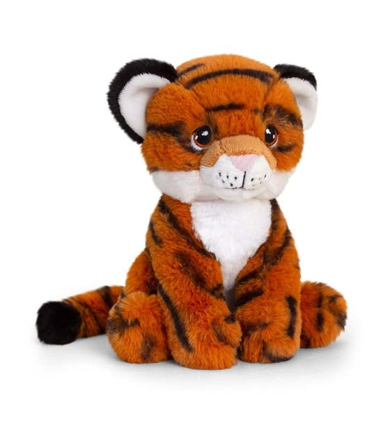 Plush Teddy Made From 100% Recycled Plastic - Tiger 18cm