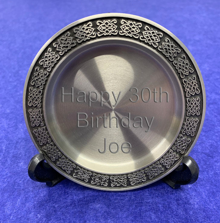 Engraved Personalised Pewter Coaster in Presentation Box