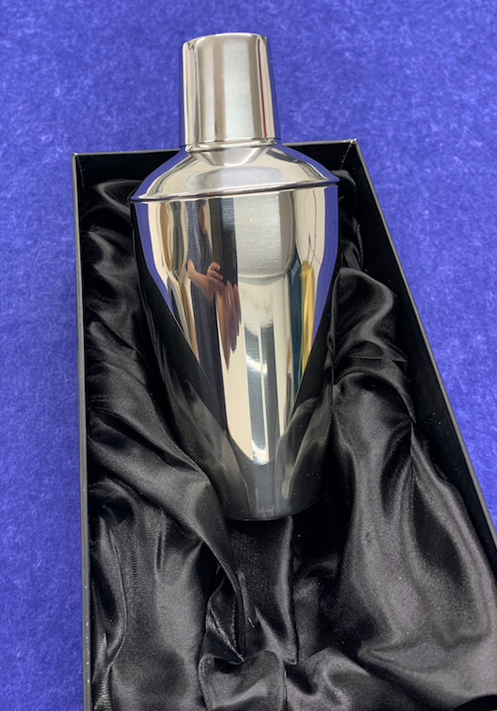 Engraved Personalised Polished Stainless Steel 0.5L Cocktail Shaker