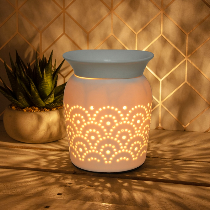 Large Ceramic Wax Melter Aroma Lamp - Fan 14cm