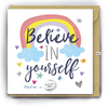 Card With Magic Growing Bean - Believe In Yourself