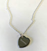 Sterling Silver Chain Necklace with heart pendant 20mm x 20mm - Available Personalised Engraved