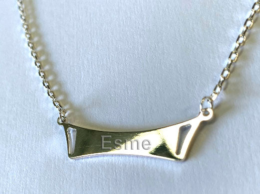 Sterling Silver 925 Necklace with Plain Pendant - Available Personalised Engraved