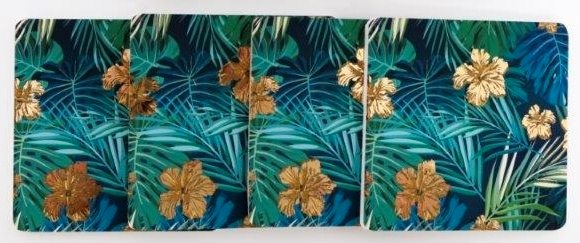 Tropical Leaf Coasters 10cm