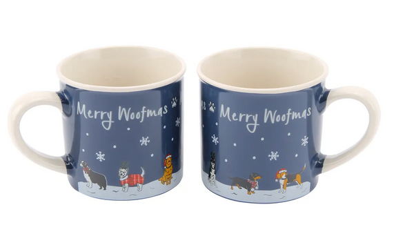 Paws for Thought 'Merry Woofmas' Stoneware Mug