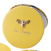 The Beekeeper 'Bee Happy' Yellow Compact Mirror