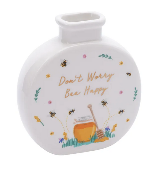 The Beekeeper 'Don't Worry Bee Happy' Bud Vase