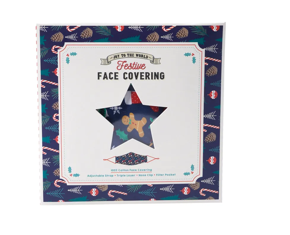 'Joy To The World' Festive Face Covering