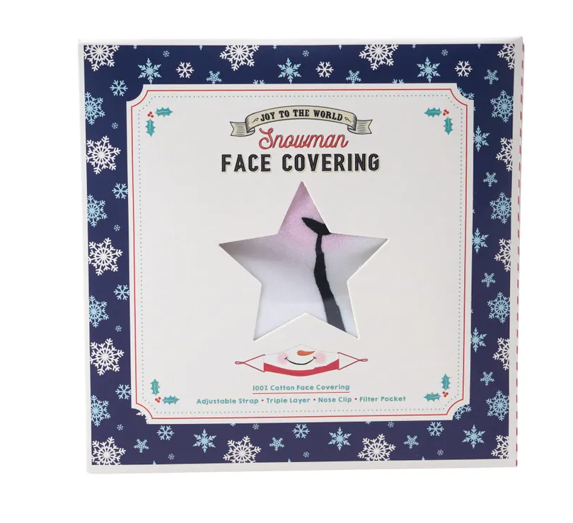Joy To The World Snowman Face Covering