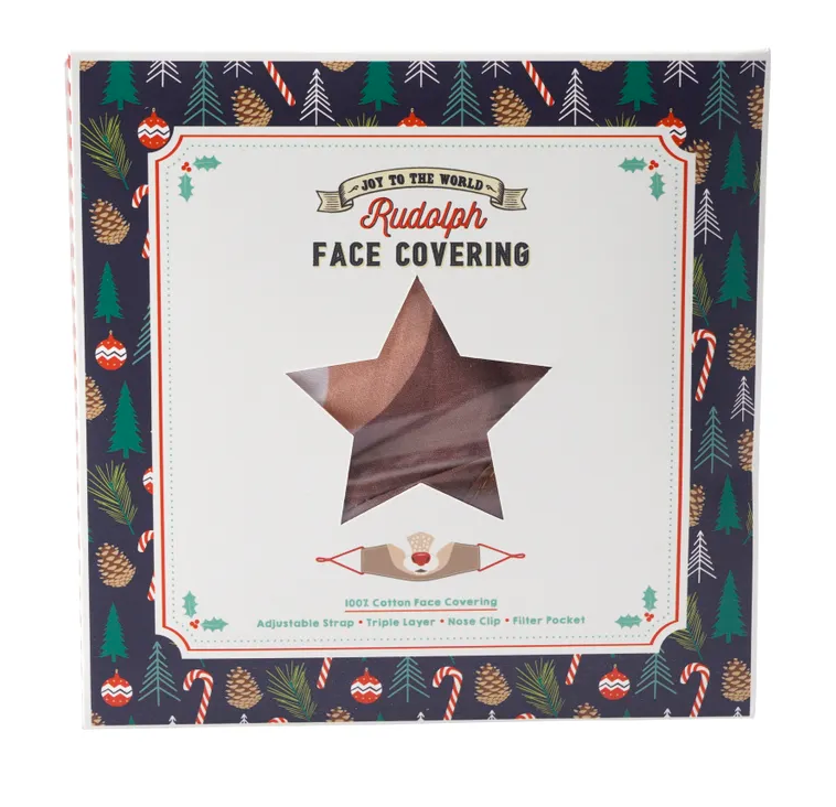 Joy To The World Rudolph Face Covering