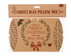 Craft Paper 'Merry Christmas' Pillow Box