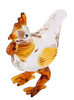 Glass Rooster Ornament